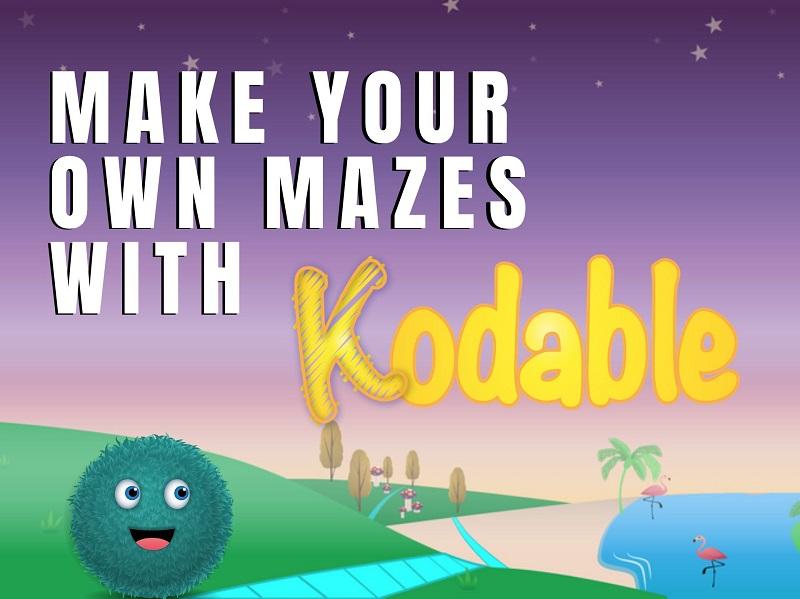© Источник: kodable.com. Позвольте вашему ребенку создать собственный лабиринт и пройти его, используя простые алгоритмы.